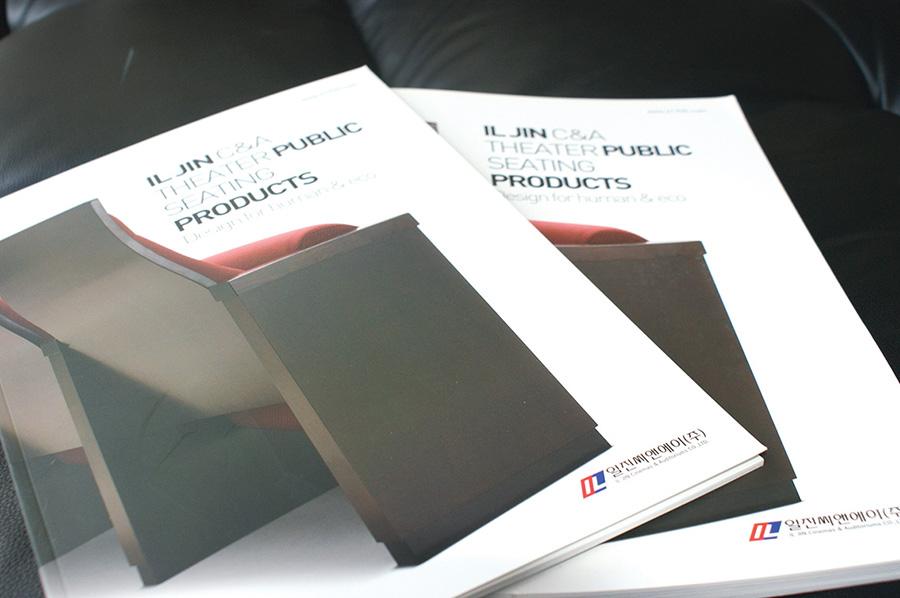 일진씨엔에이기업제품 가구카타로그 제작의뢰는 제품카탈로그 디자인 편집 제작 전문업체 더레이아웃 입니다