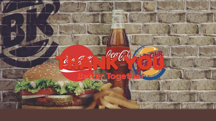 코카콜라(Coca-Cola)와버거킹프로모션키노트작업